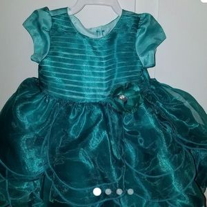 Nannette Baby Girl Green Dress-NWT